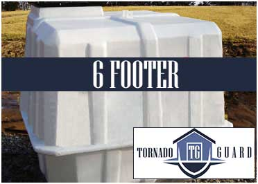 Tornado Guard Storm Shelter - 6 Footer Model - When The Storm Comes, You'll Be Protected.