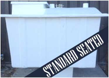 Tornado Guard Storm Shelter - Standard Seated Model - When the Storm Comes, You'll Be Protected.